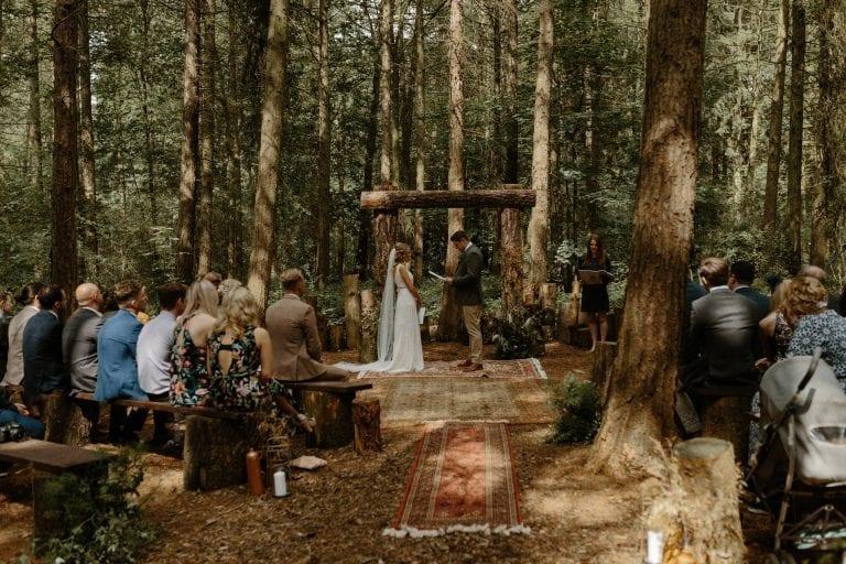woodland-wedding-ceremony-camp-katur-yorkshire